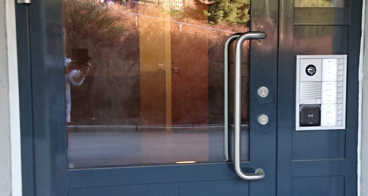 Nytt inngangsystem og nøkkel system